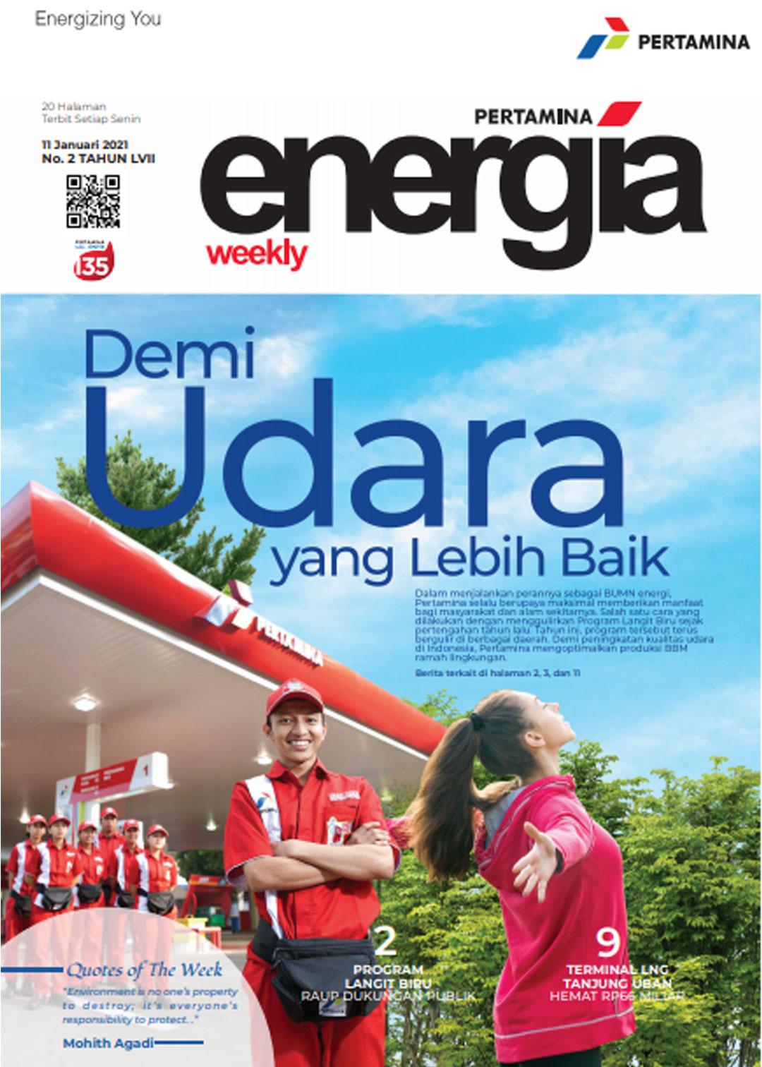 Energia Weekly 2nd Week of January 2021