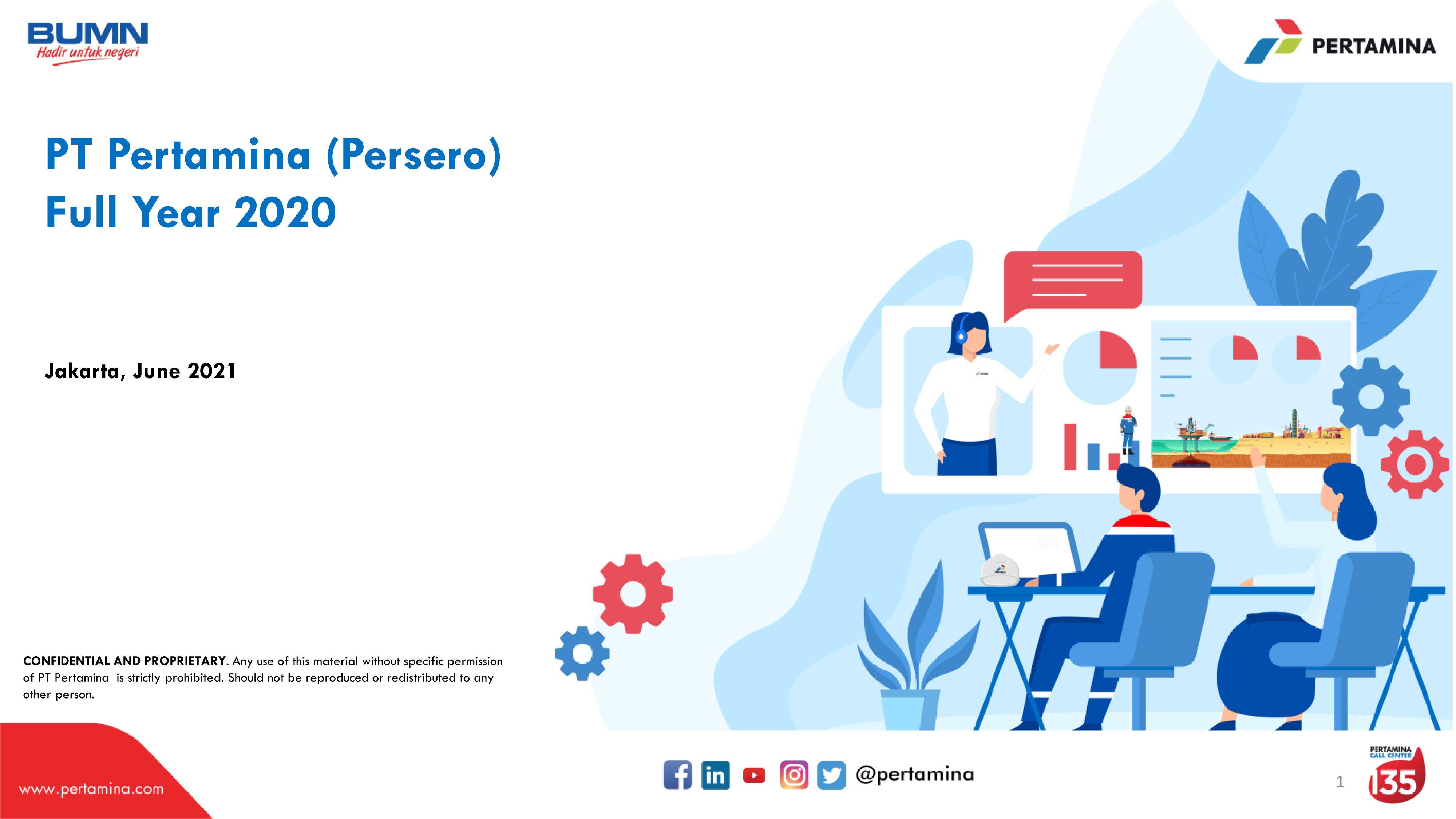 PT Pertamina (Persero) Full Year 2020 Performance