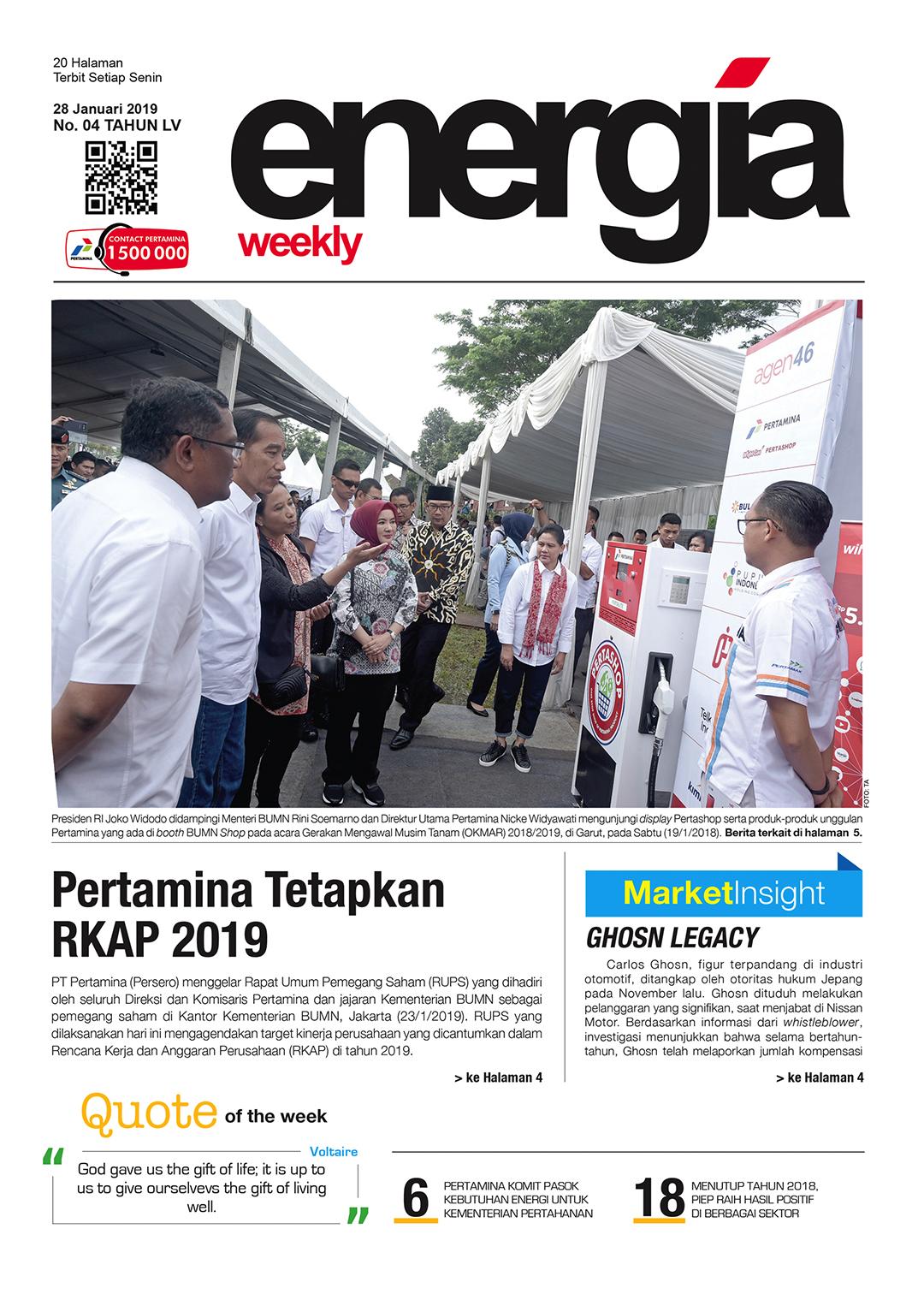 Energia Weekly 5th Week Of Januari 2019