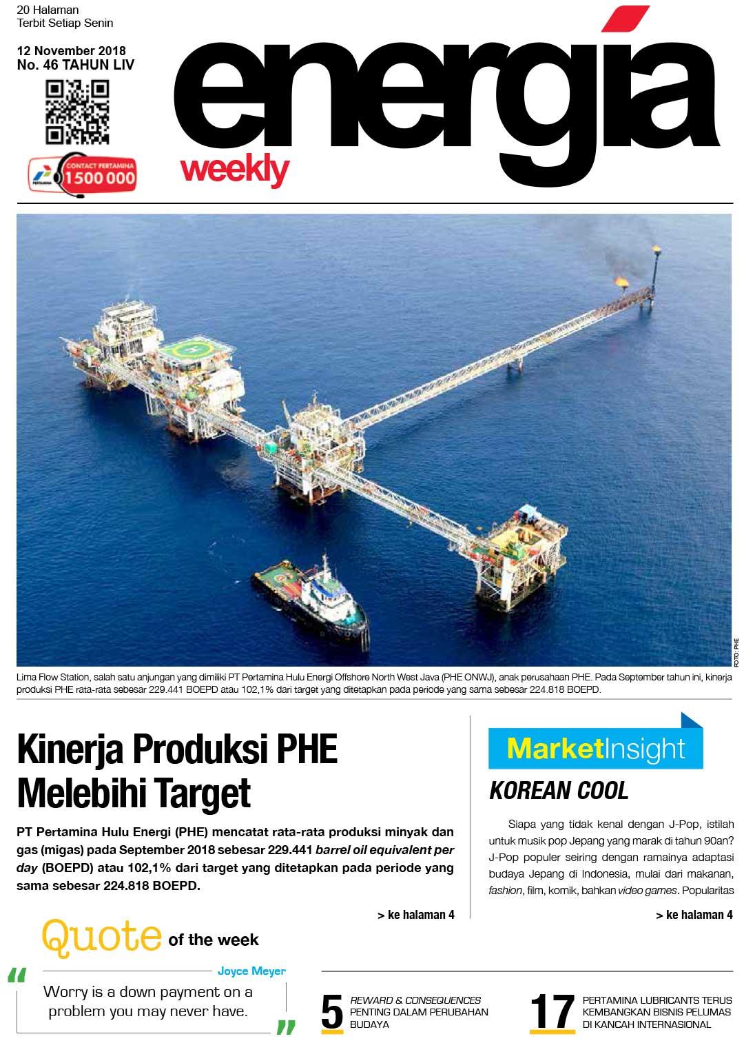 Energia Weekly 3rd week of November 2018