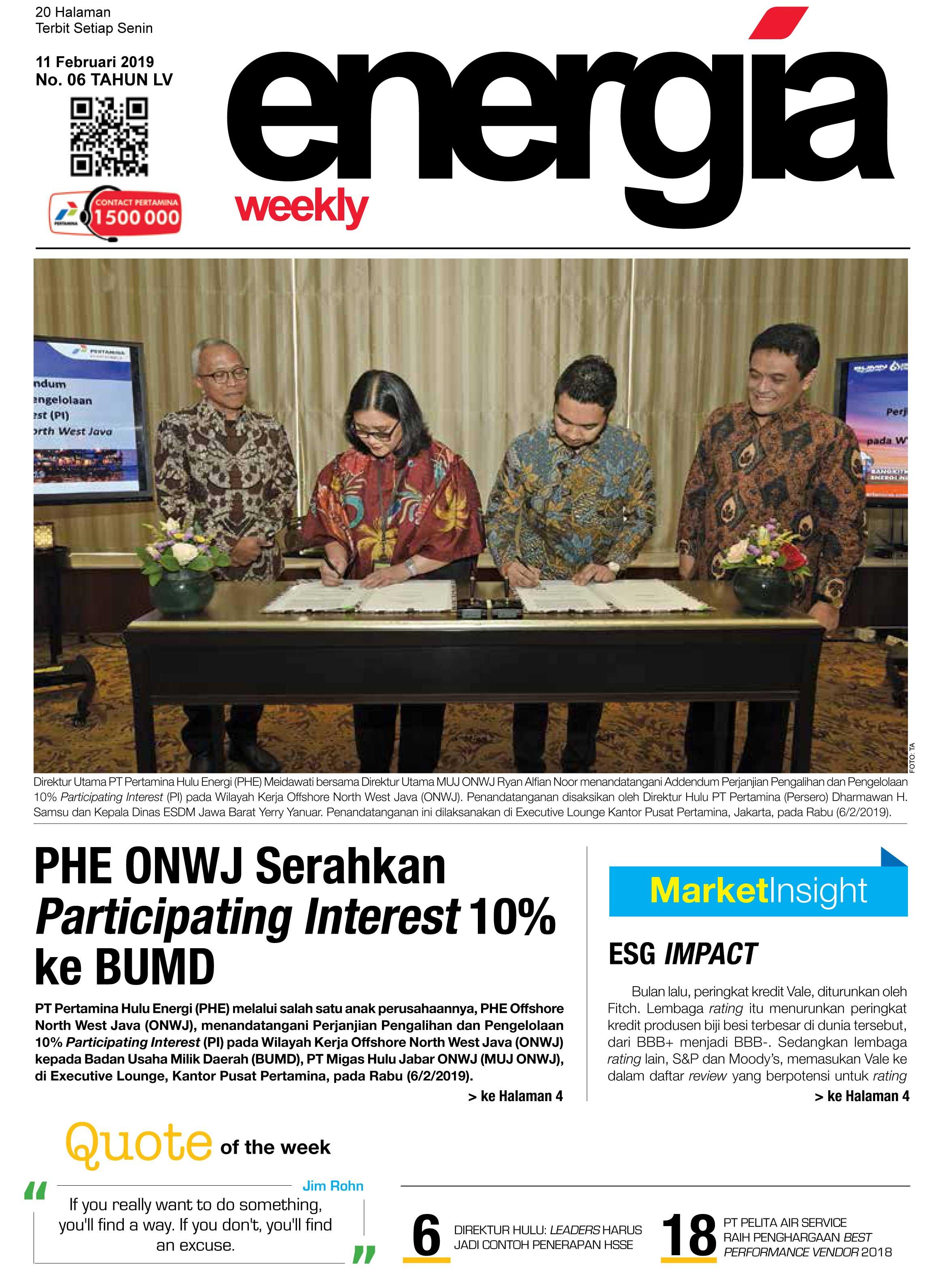 Energia Weekly 3rd Week Of February 2019