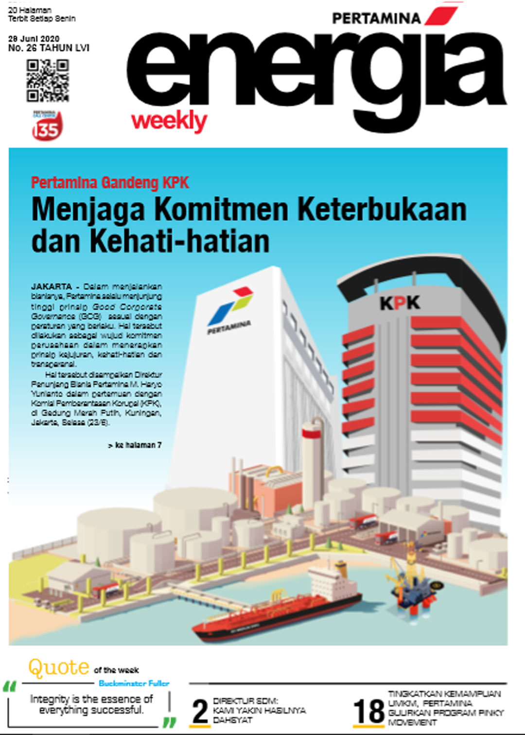 Energia Weekly 5th Week of June 2020