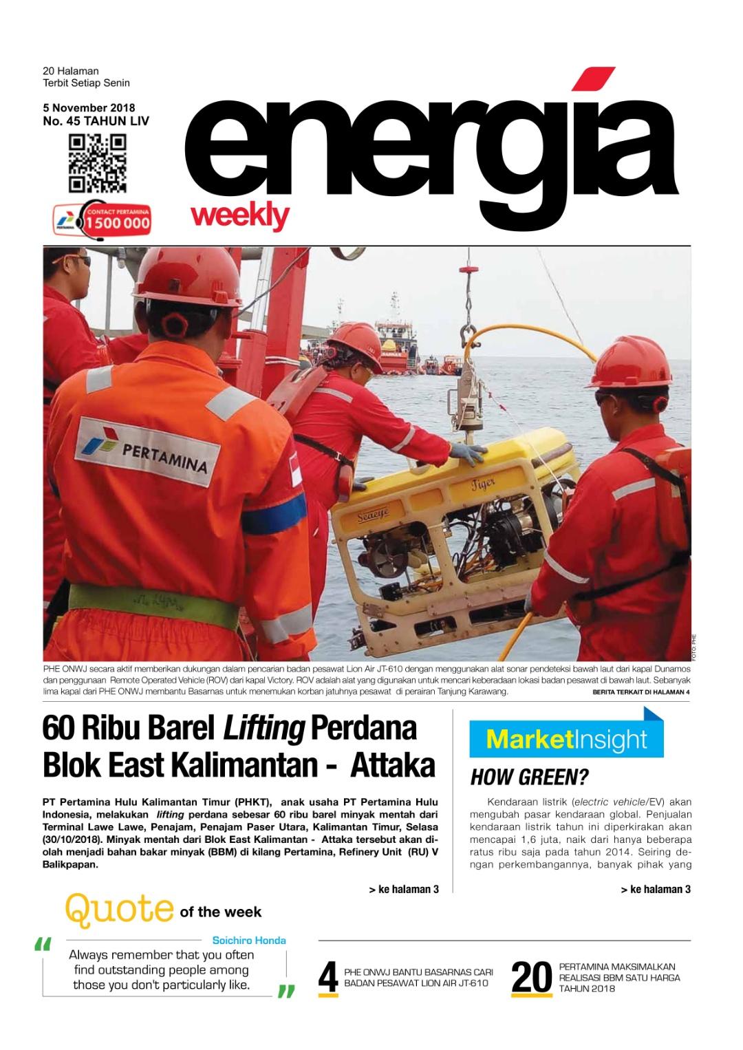 Energia Weekly 2nd week of November 2018