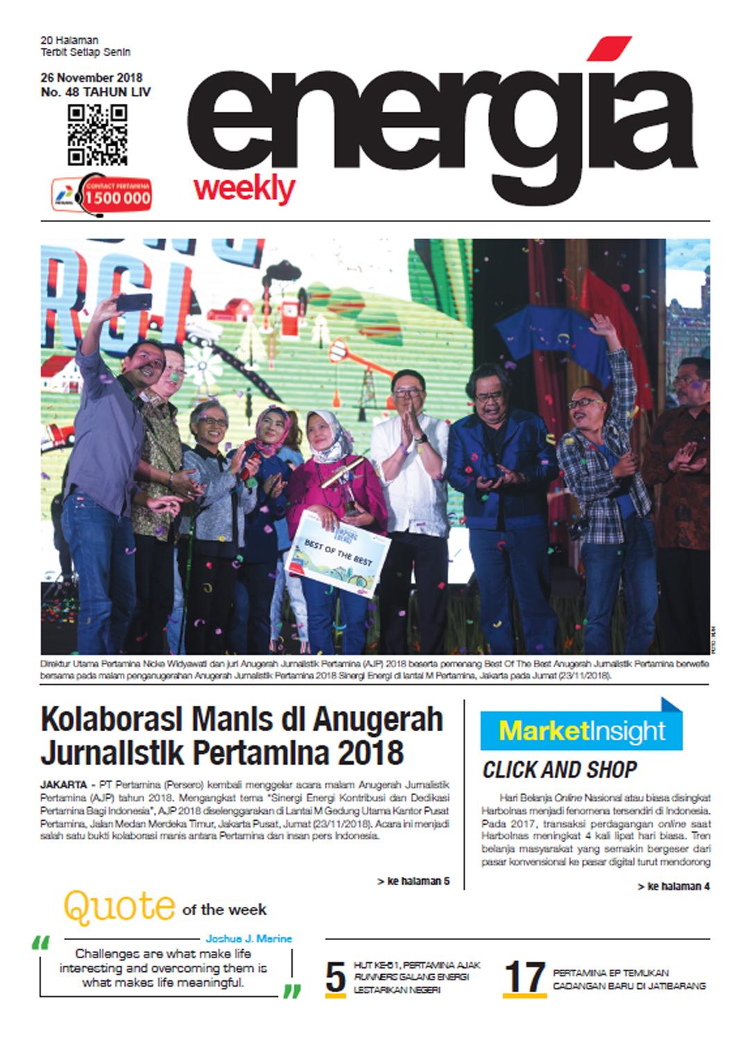 Energia Weekly 5th week of November 2018