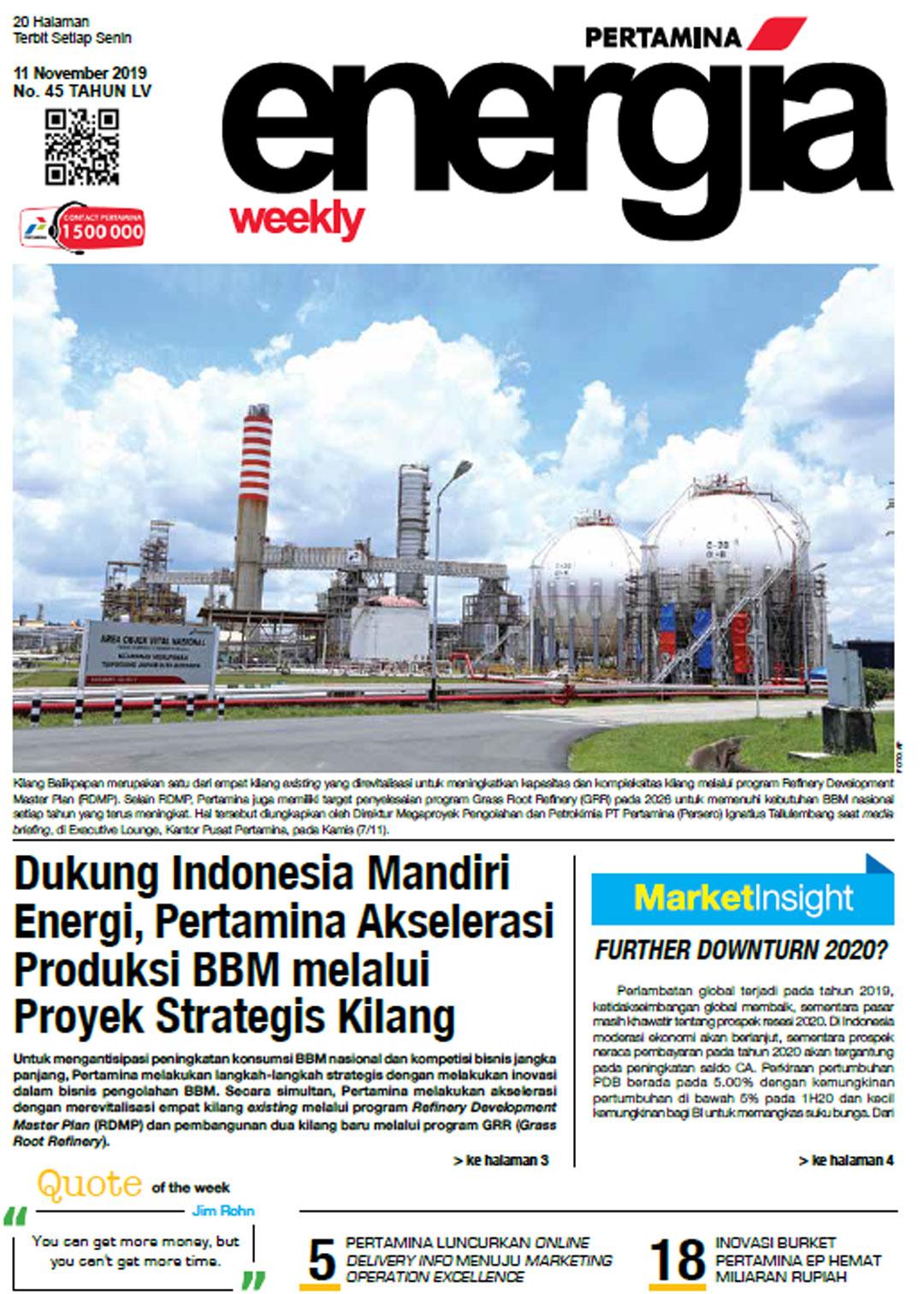 Energia Weekly 2nd Week of November 2019