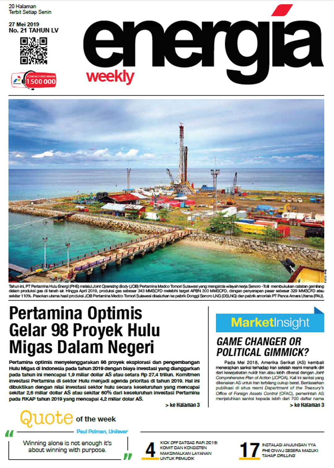 Energia Weekly 4th Week of May 2019