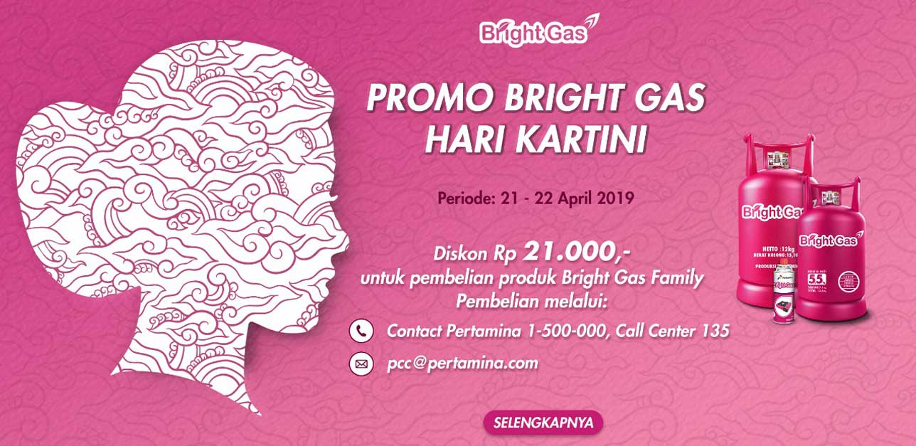 PROMO BRIGHT GAS HARI KARTINI