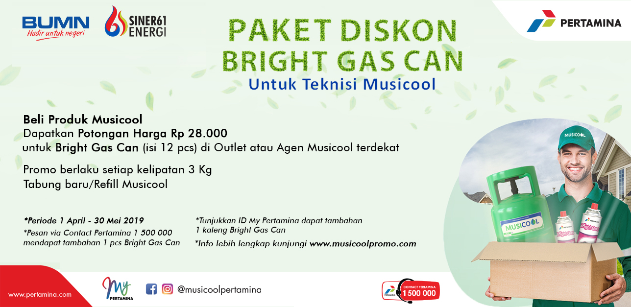 Paket Diskon Bright Gas Can